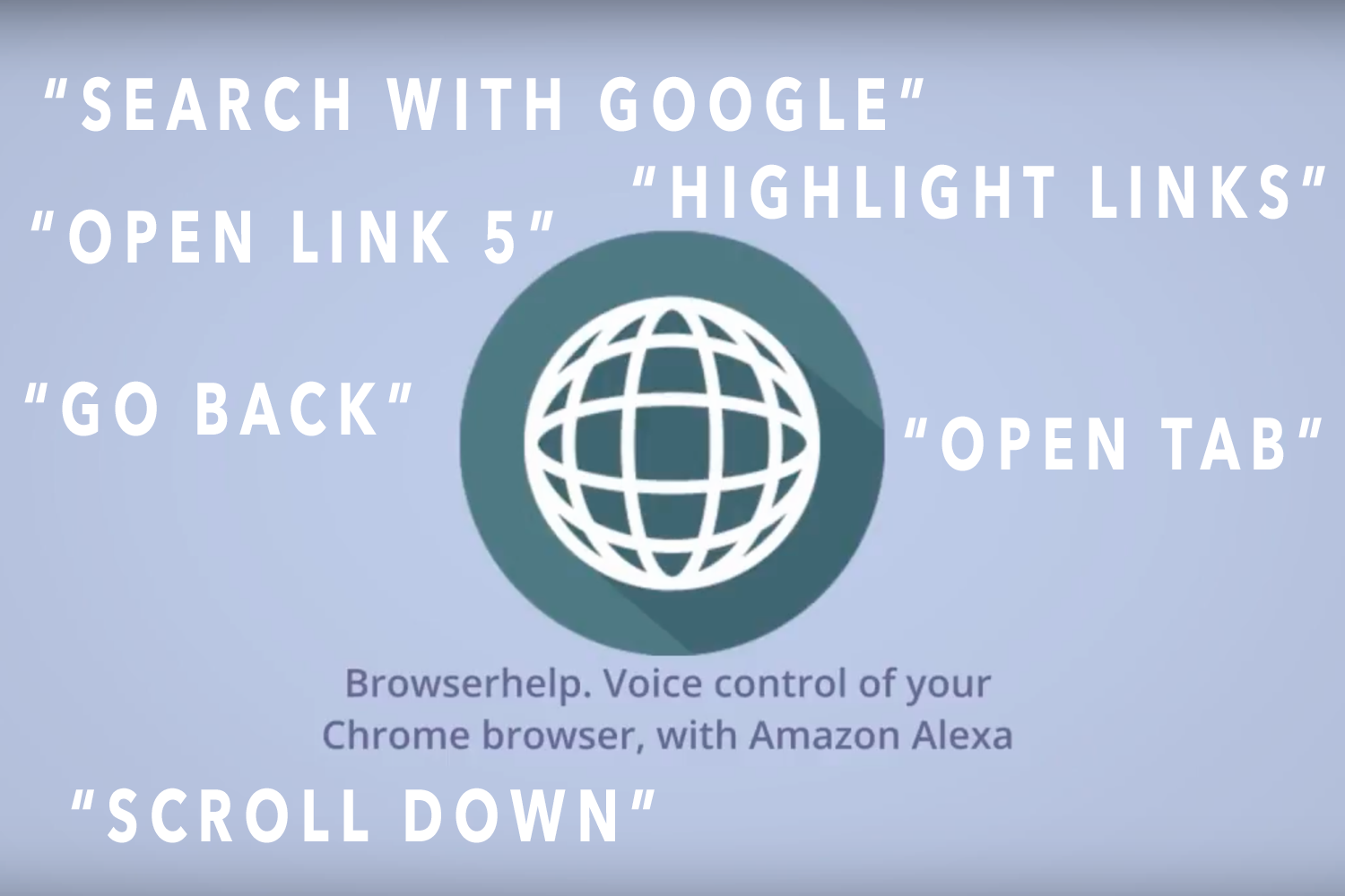 Alexa BrowserHelp - Voice control of your Chrome browser via